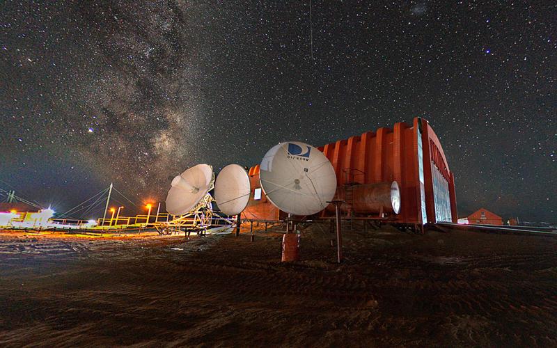 Fotografia 360 grados Noctura Base Marambio Antartida Argentina